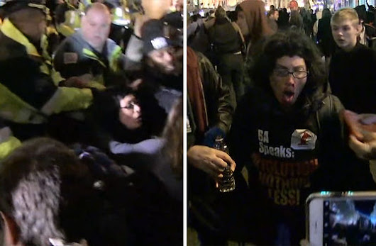 Pepper Spray Fired -- Chaos at Anti-Trump Rally in D.C.