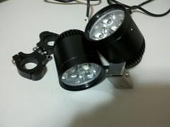 Pair of 24w 1500 lumen LED driving lights.