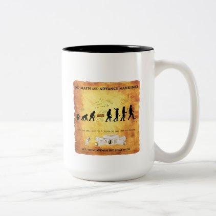 Coffee Mug This Smart Caveman Does Math