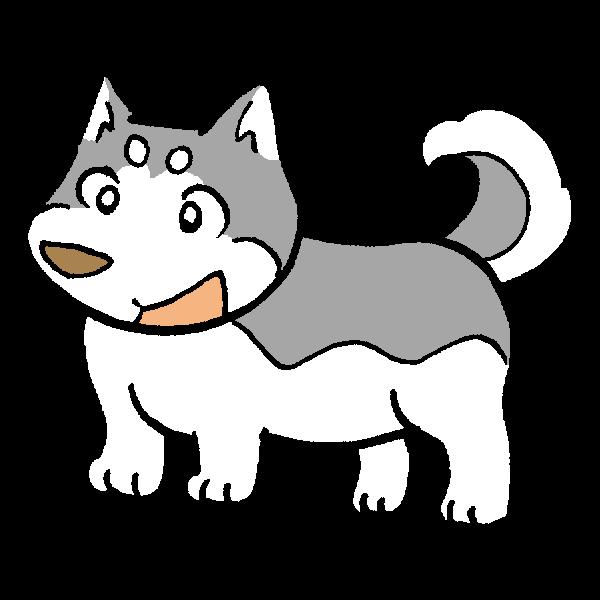 犬左向きのイラスト かわいいフリー素材が無料のイラストレイン