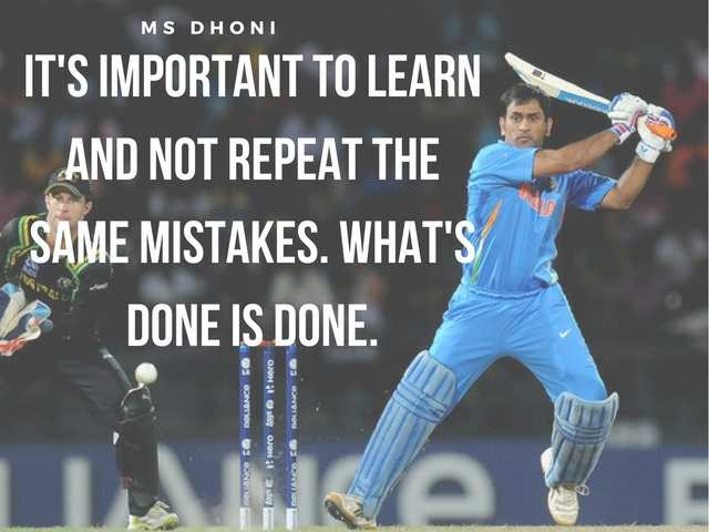 9 Inspirational Quotes From Ms Dhoni For Your Work Life Tjinsite