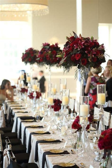 Dark Red Wedding Decorations