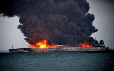 Image result for 32 missing after tanker, freighter collide off China