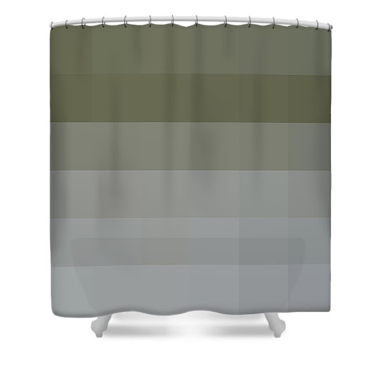 Square Maze Shower Curtain