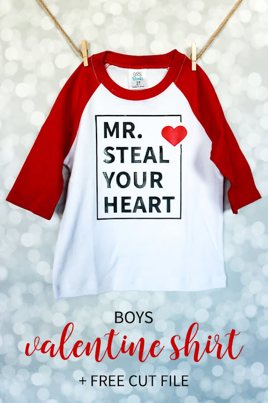 Boys Valentine Shirt Design + Free Cut File