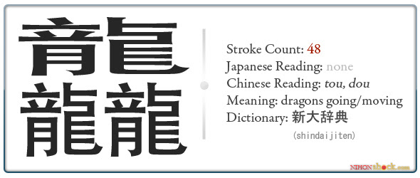 Highest Stroke Count Crazy Crazy Kanji Nihonshock