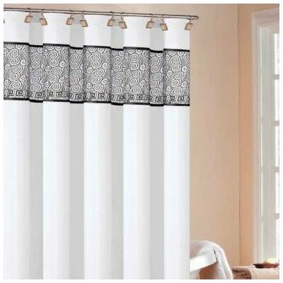 Black Fabric Shower Curtain | Wayfair