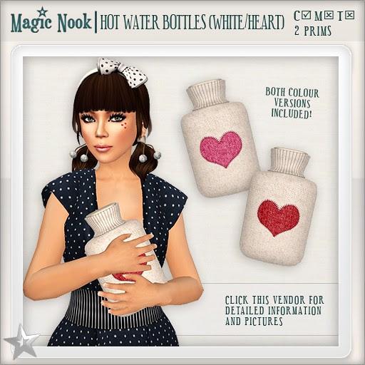 [MAGIC NOOK] Hot Water Bottles (White / Heart)