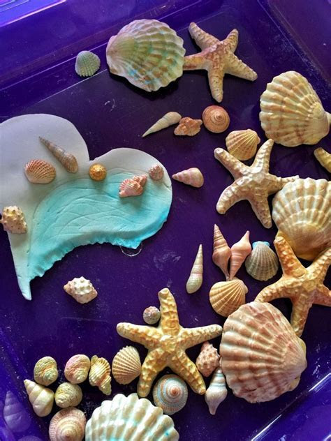 Fondant Sea Shells and Large Wave Heart/Cake Toppers
