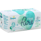 Pampers Aqua Pure Sensitive Baby Wipes - 2 pack, 112 count