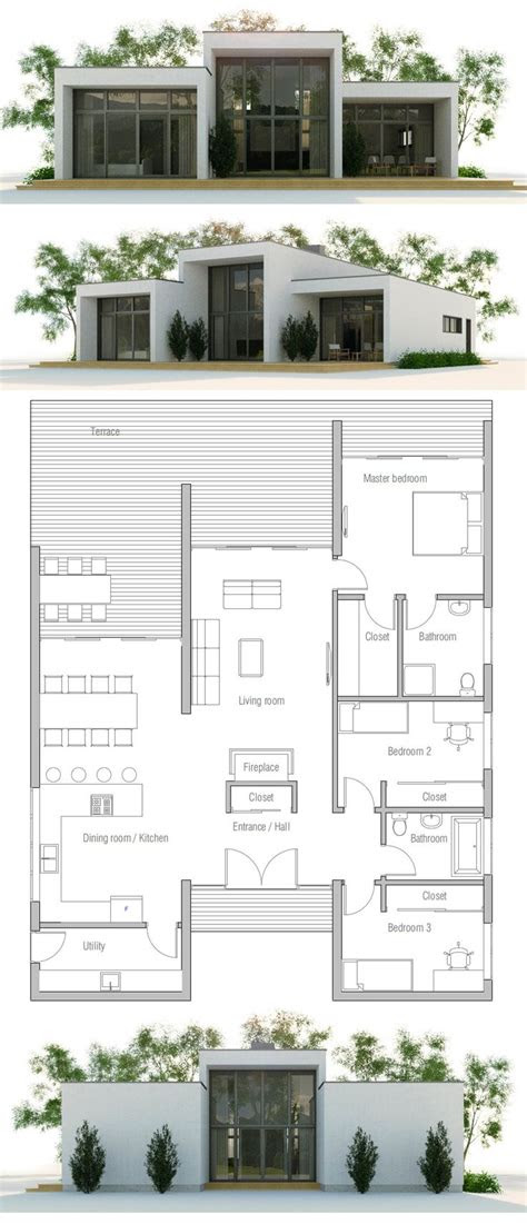 small  modern house plans cottage house plans
