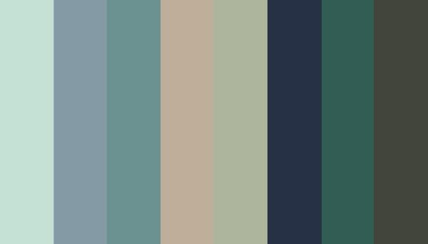 Breakthrough colours: Dusty Aqua (12-5506 TCX); Arona (16-4109 TCX); Mineral Blue (16-4712 TCX); Doeskin (15-1308 TCX); Swamp (15-6310 TCX); Black Iris (19-3931 TCX); Posy Green (18-5616 TCX); Forest Night (19-0414 TCX)