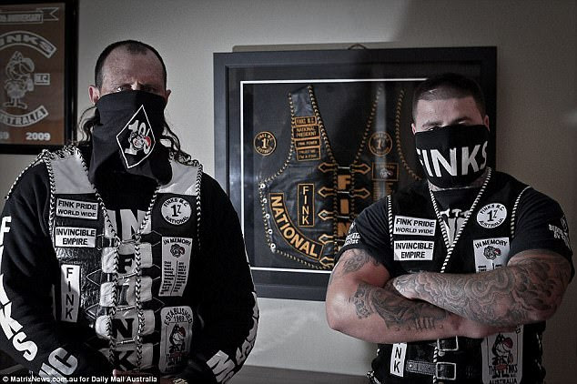 Last month, a 20-year veteran of the Finks motorcycle club (not pictured) told Daily Mail Australia he was just a 'normal bloke'