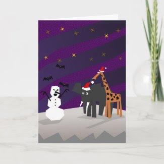 Scary Snowman card