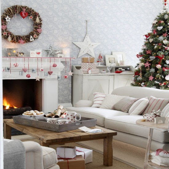 Nostalgic Scandi-style Christmas living room | Christmas living room decorating ideas | PHOTO GALLERY | Ideal Home | Housetohome