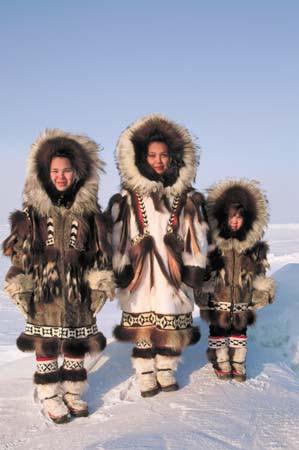 Παραδοσιακή αμφίεση Εσκιμώων της Αλάσκα