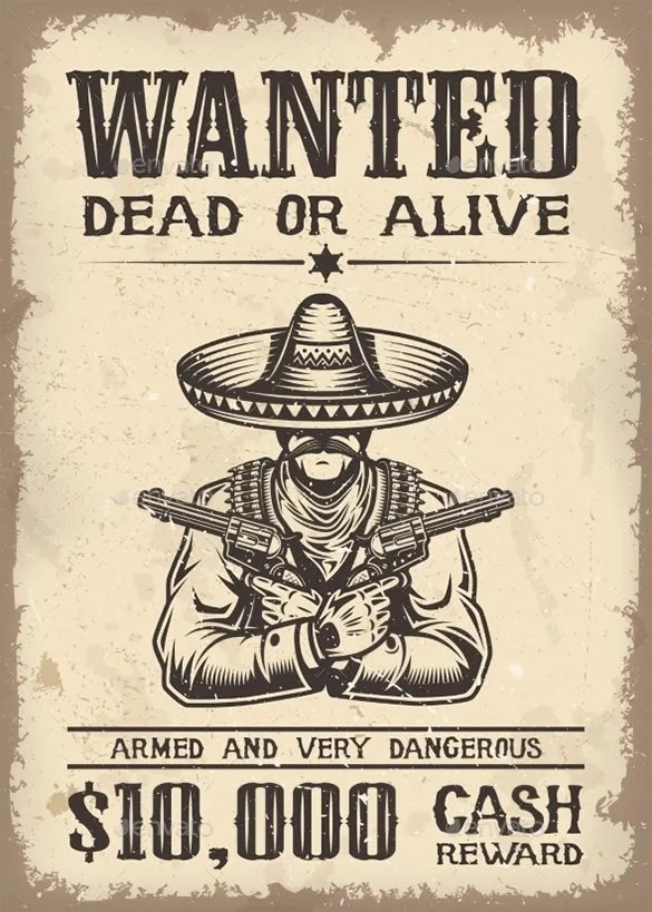 Editable Old Wanted Poster Template | How To Write A College ...