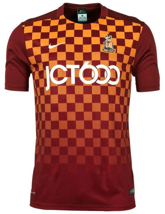 New Bradford City Kit 15/16- BCAFC Nike Shirts 2015-16 ...