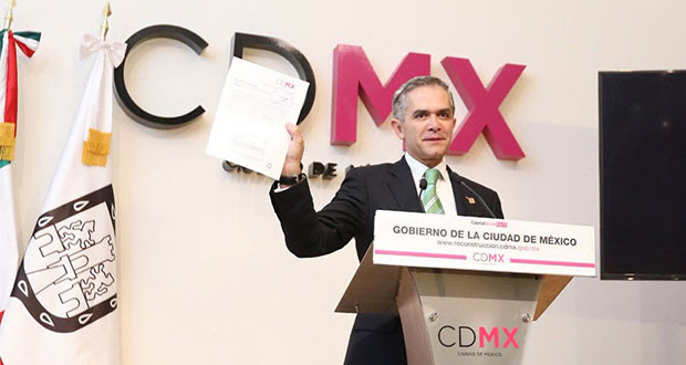 Mancera pide licencia definitiva como jefe de gobierno de CDMX