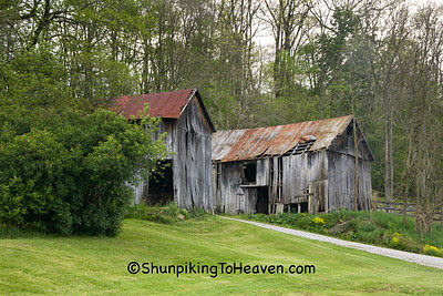 Two Old Sheds, Muskingum County, Ohio