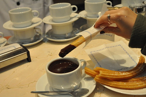 Churros con chocolat