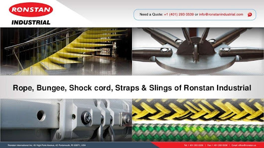 Rope, bungee, shock cord, straps & slings of Ronstan Industrial