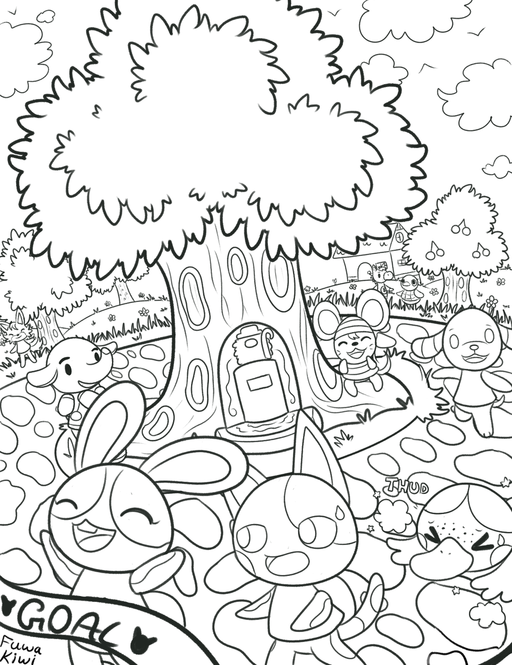Animal Crossing - Coloring Pages For Kids And For Adults ...