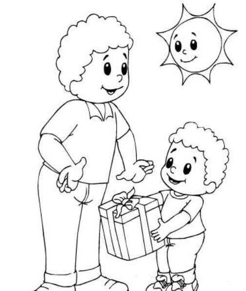 Okul öncesi Babalar Günü Boyama Sayfaları Gauranialmightywindinfo