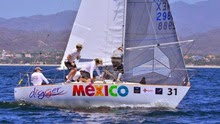J/24 sailing Mexico North Americans- winners Mike Ingham