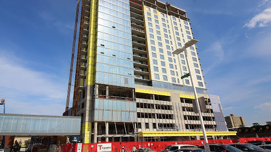 Oak Park's newest—and second tallest—tower tops out