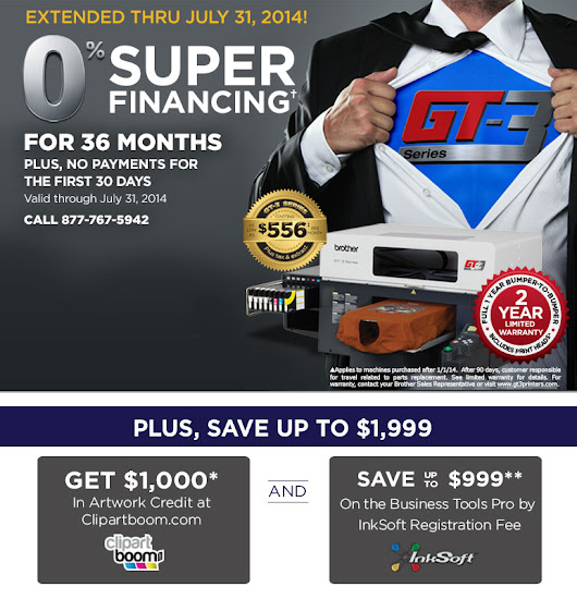 Brother GT-3 Series Garment Printers | Special Financing Offer