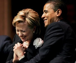 Barack Obama e Hillary Clinton.