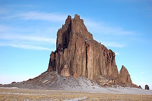 English: A photograph of Shiprock.