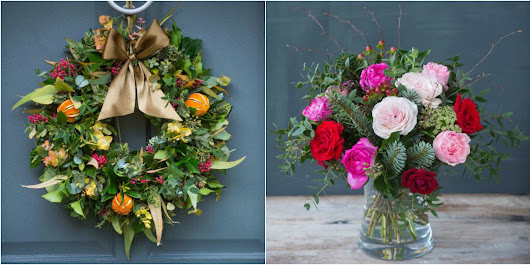 WIN! a luxury Christmas Wreath & Weekly Flower Delivery