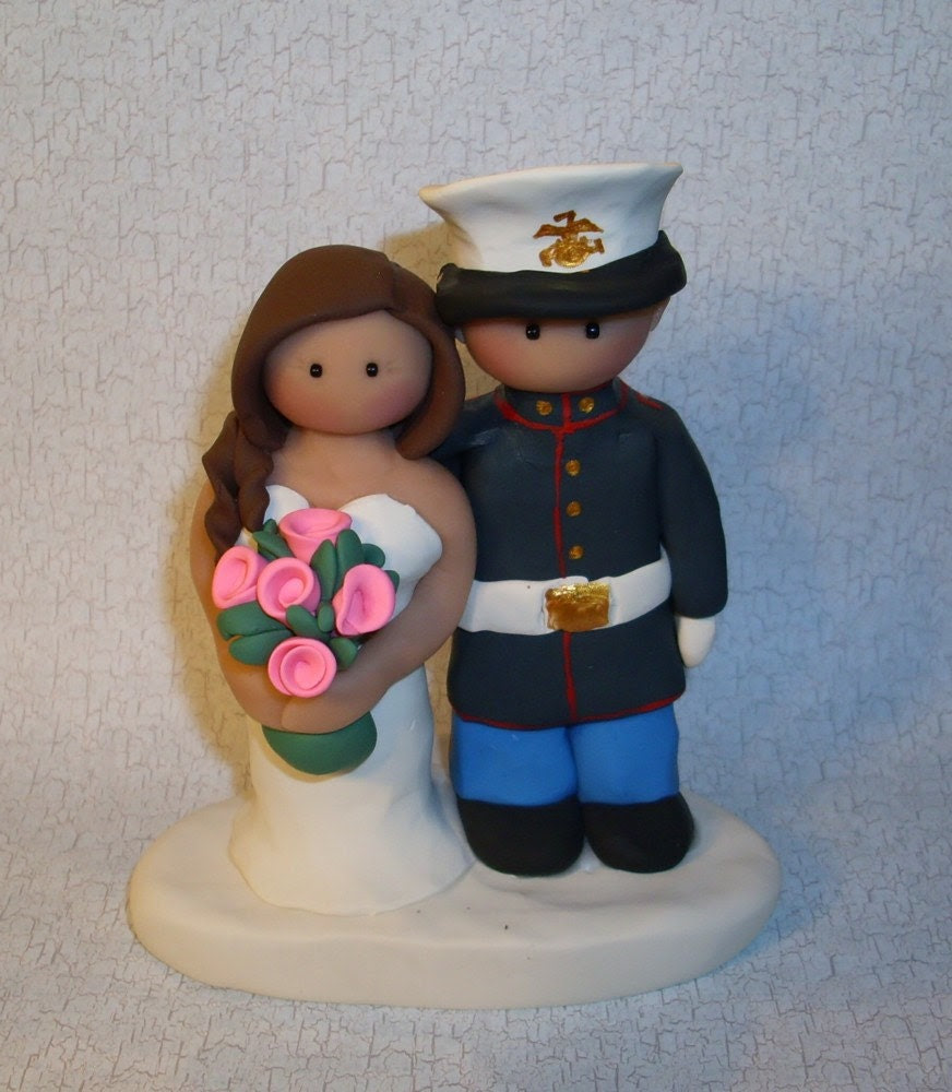 Military Wedding Cake Topper - Ginger Babies