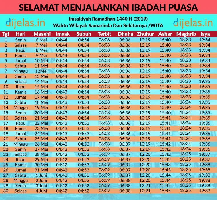 Intip Jadwal Puasa Ramadhan 1440 H (2019) - Dijelas.in