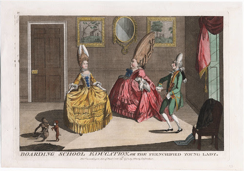 Boarding School Education or the Frenchified Young Lady 1771 (M Darly - Walpole)