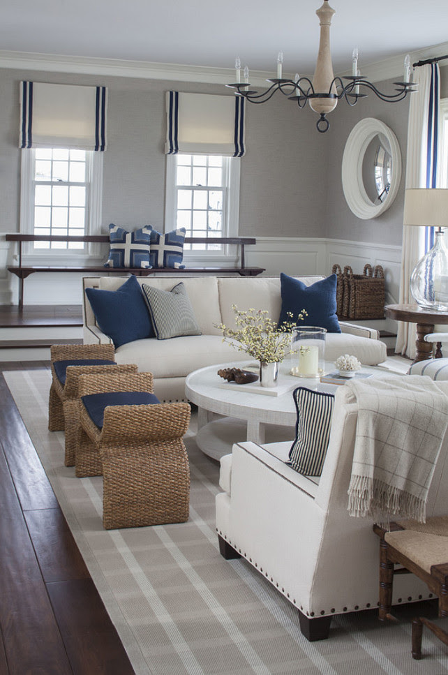 East Coast House with Blue and White Coastal Interiors ...