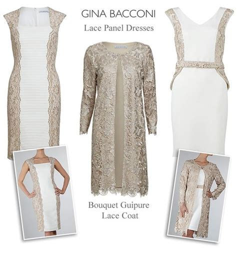 Gina Bacconi almond cream ivory champagne wedding outfits