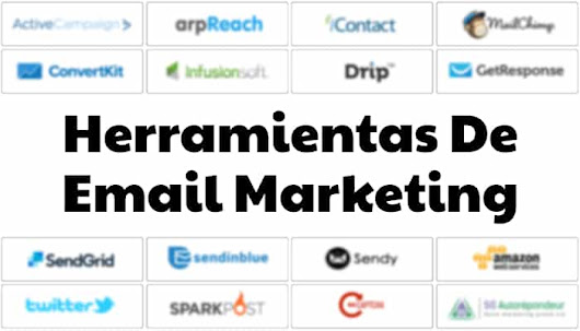 Lista de herramientas de email marketing disponibles en el mercado