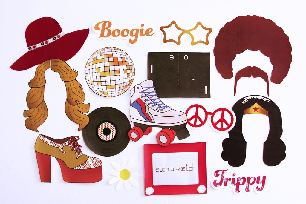 70s Party Printable, Photo Booth Props   INSTANT DOWNLOAD ...
