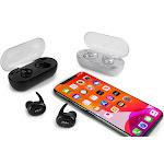 Aduro Sync-Buds True Wireless Earbuds w/ Charging Case Black
