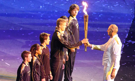 Steve Redgrave at the Olympics opening ceremony