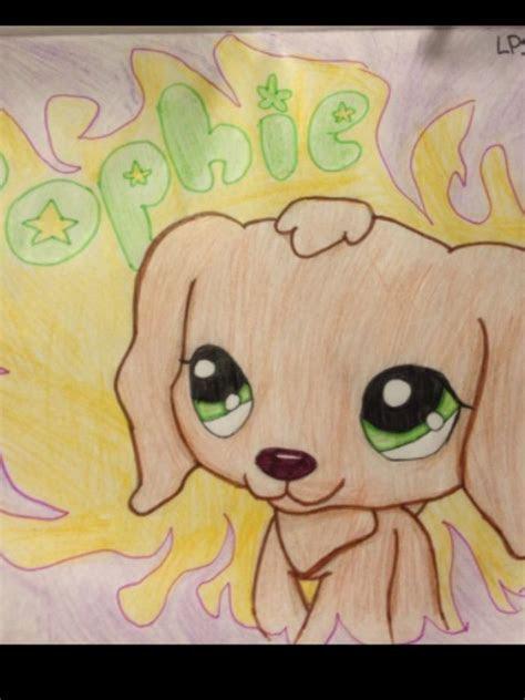 cute dog drawing littlest pet shop