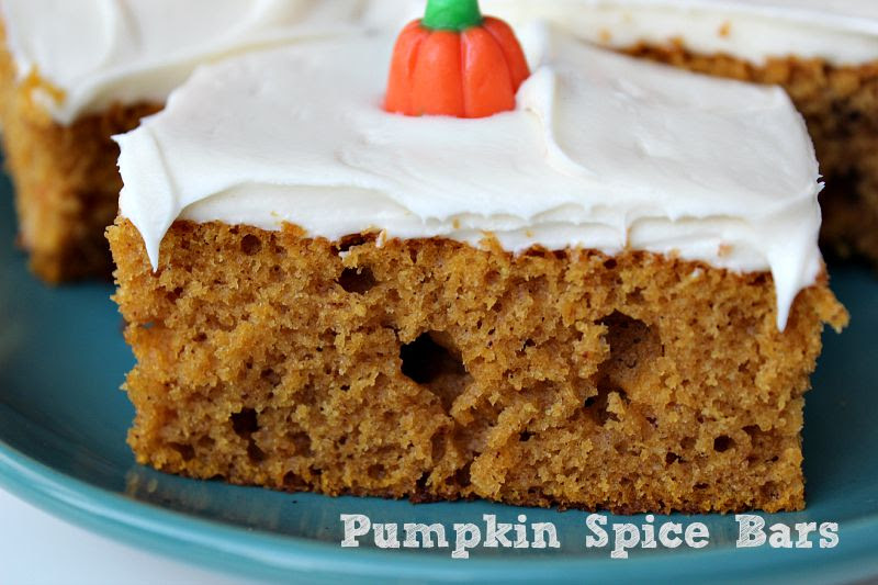Pumpkin Spice Bars are a huge tradition in our family! They are perfect for any family get together and they make a great breakfast too as well.