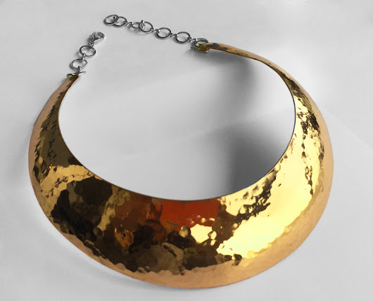 Hammered brass choker for HK$800.00