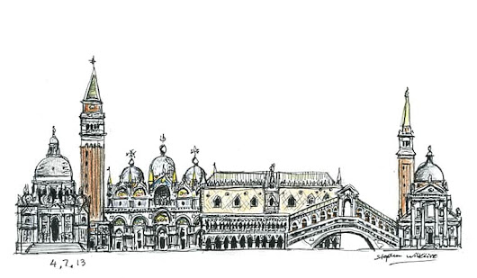 Venice montage - Original drawings, prints and limited editions by Stephen Wiltshire MBE