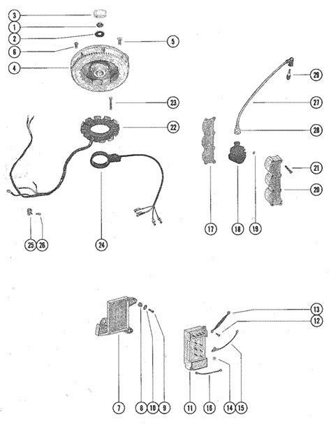 Mercury Marine 70 HP (3 Cylinder) Flywheel, Switch Box