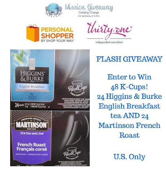 Enter to Win 48 K-Cups #MissionGiveaway