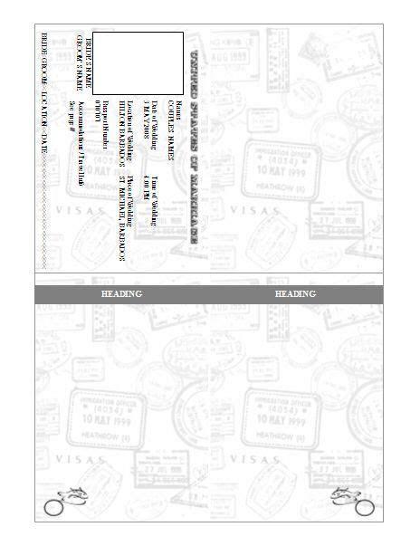 Passport Invitation Template   Pre Designed   Teacher